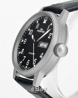 Mint Swiss FORTIS Flieger Pilot Automatic Day Date Mens Wrist Watch
