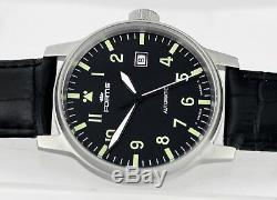 Mint Swiss FORTIS Flieger Pilot Black Automatic Date Mens Wrist Watch