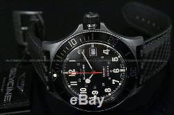 NEW Glycine COMBAT Sub SWISS MADE AUTOMATIC Movement Carbon Fiber Leather Watch