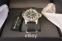 NEW Glycine Combat Sub 42 Black Grey Dial Automatic Men's Dive Watch GL0076