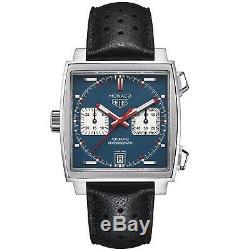 NEW Tag Heuer Monaco Denim Steel Automatic Blue Watch CAW211P. FC6356