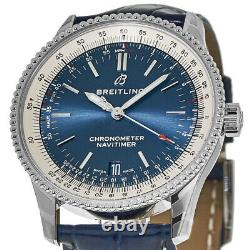 New Breitling Navitimer 1 Automatic 38 Blue Dial Men's Watch A17325211C1P1