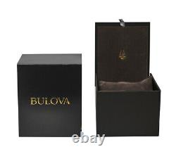 New Bulova Hack Automatic Ivory Dial Black Leather Strap Men's Watch 96A246