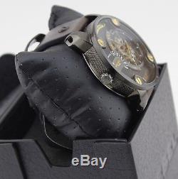 New Diesel Automatic The Dadies Little Daddy Skeleton Black Men's Dz7364 Watch