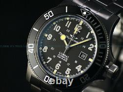 New Glycine 48mm Combat Sub Swiss Automatic Sapphire Crystal Blk Watch, Gl0096