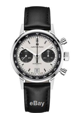 New Hamilton IntraMatic Automatic Panda Dial Leather Strap Mens Watch H38416711