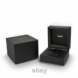 New Rado D-Star 39mm Automatic Ceramic Leather Strap Men's Watch R15762175