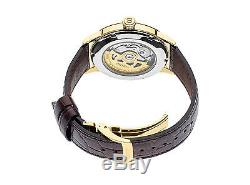 New Seiko Presage Automatic Sunray Dial Leather Strap Mens Watch SRPB46