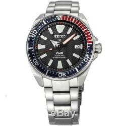 New Seiko SRPB99 Prospex Padi Samurai Stainless Steel Automatic 44mm Watch