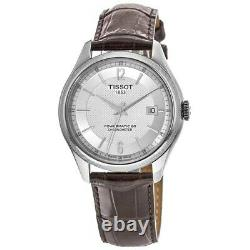 New Tissot Ballade Automatic Silver Dial Brown Men's Watch T108.408.16.037.00