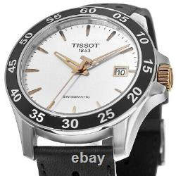 New Tissot V8 Automatic Silver Dial Black Men's Watch T106.407.26.031.00