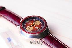 Nice Vintage SEIKO Bullhead 6138 0040 Automatic Chronograph Men's Wrist Watch