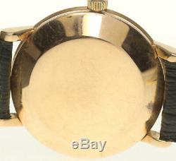 OMEGA antique 18K Pink Gold cal. 491 Silver Dial Automatic Men's Watch 521059