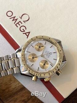 Omega 1988 Speedmaster Men's 18K Gold reduced Automatic watch + Box + Leather