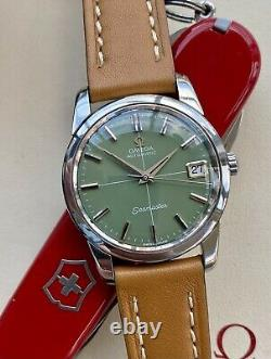 Omega Automatic Seamaster Olive Green Dial Steel Mens Vintage serviced May watch