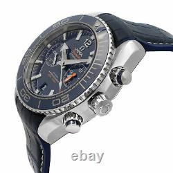 Omega Seamaster Blue Dial Ceramic Steel Automatic Mens Watch 215.33.46.51.03.001