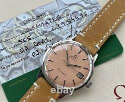 Omega Seamaster Date Automatic Steel Mens Vintage 1968 Salmon Pink Dial watch