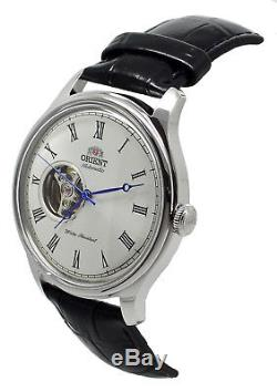Orient Classic Open Heart FAG00003W0 Automatic Black Leather Band Men's Watch