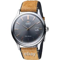 Orient FAC08003A Bambino Version 4 Automatic Grey Dial Brown Leather Men's Watch