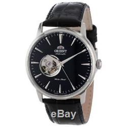 Orient FDB08004B Men's Open Heart Black Dial Strap Automatic Watch