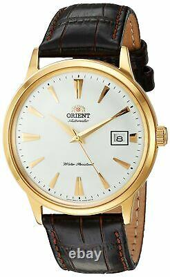 Orient Men's 2nd Gen. Bambino V. 1 Gold Tone & Leather Automatic Watch FAC00003W0