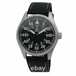 Orient Pilot Flight Automatic Black Dial Leather Men's Watch