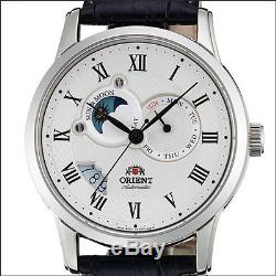 Orient White Dial Automatic Sun and Moon Watch, Sapphire Crystal #ET0T002S