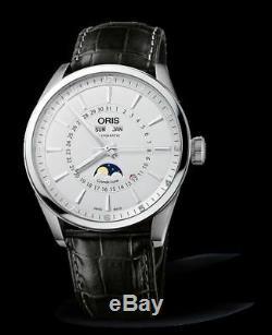 Oris Artix Complication 42mm Automatic Men's Leather Band Watch 915 7643 4051