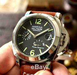 PARNIS MARINA MILITARE 44mm power reserve Automatic men's wrist watch From Japan