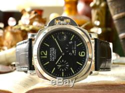 PARNIS MARINA MILITARE 44mm power reserve Automatic mens wrist watch From Japan