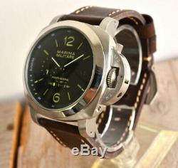 PARNIS MARINA MILITARE 48mm power reserve Automatic men's wrist watch From Japan