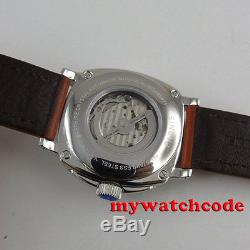 PARNIS black dial Sapphire Glass 21 jewels miyota automatic military mens Watch