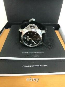 Panerai Luminor 1950 Black Automatic Men's Watch Black Leather PAM00321 44mm