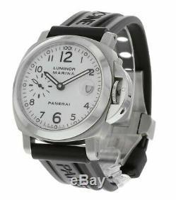 Panerai Luminor Marina 40mm Men's Rubber Strap Automatic Watch Pam049