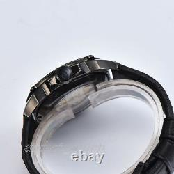 Parnis Men's Military Watch Miyota Automatic Hollow Out Dial Sapphire Wristwatch