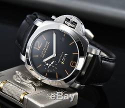 Parnis watch LUMINOR Power reserve PAM 44MM watch automatic movement steel case
