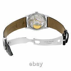Patek Philippe Calatrava 18K White Gold Black Dial Automatic Unisex Watch 5000G