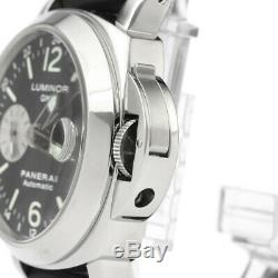 Polished PANERAI Luminor GMT Steel Rubber Automatic Mens Watch PAM00088 BF337216
