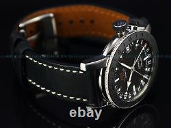 Pre Invicta Glycine Airman 17 Swiss Made GMT World Timer Automatic SS Watch 3927