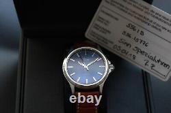 Rare Genuine Sinn 556 I B 38.5mm Blue Dial Automatic German Watch