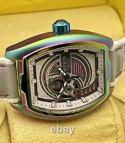Rare Invicta Men 42mm S1 Rally Diablo Iridescent Case Grey Dial Automatic Watch