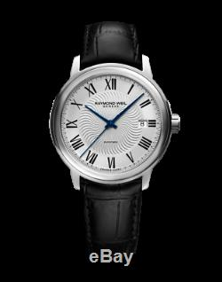 Raymond Weil Maestro Men's Automatic Silver Dial Leather Watch 2237-STC-00659