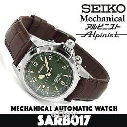 Refurbish SEIKO MECHANICAL Alpinist SARB017 Automatic Mens Watch Made in Japan