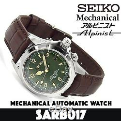 Refurbished SEIKO Mechanical Alpinist SARB017 -Green Dial Automatic Mens Watch