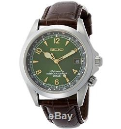 Refurbished Seiko Alpinist Automatic Men's Leather Watch Green SARB017 NO BOX