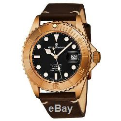 Revue Thommen Men's Diver Black Dial Brown Leather Automatic Watch 17571.2599