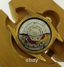 Rolex 36mm Day Date President 18K YG Custom Black Diamond Dial 1803 Automatic