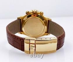 Rolex Daytona Cosmograph 16518 18K Yellow Gold Mint Condition Zenith Movement