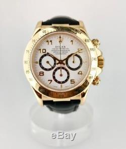 Rolex Daytona Yellow Gold 16518 Zenith movement automatic Men's watch