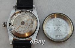 Rolex Oyster Perpetual Bubbleback Mens SS Watch Model 2940 w\Rolex Buckle 1945